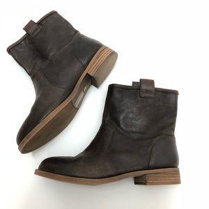 Sole Society Natasha Brown Leather Boots Size 7